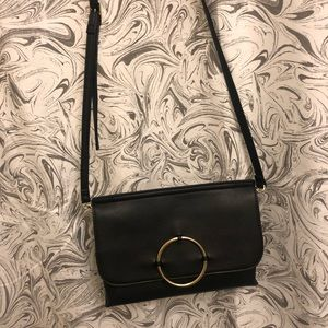 Handbags - Black O Ring Crossbody Bag